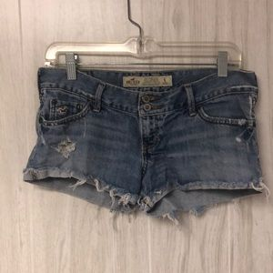 Distressed denim shorts from hollister
